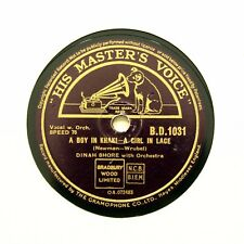 "DINAH SHORE ""A Boy In Khaki - A Girl In Lace"" (E+) HMV BD-1031 [78 RPM]"
