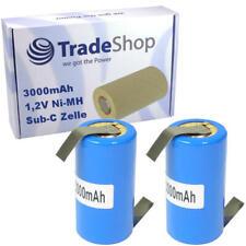 2x Akku Zelle Sub-C 3000mAh 1,2V Ni-MH Batterie für Werkzeugakkus/Modellbau