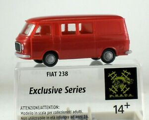 BREKINA By Pirate 238081 Fiat 238 Halfvan (Autocar / Van ) Rouge,Échelle H0 1/87