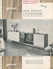 Jensen Original 1959 Speaker Enclosure Catalog A-1060