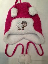 Cappello - Rosa e bianco con il disegno di una pecora - senza etichette - USATO