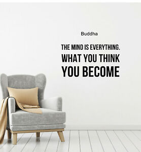Vinyl Wall Decal Buddha Quote Words Inspirational Yoga Stickers (g140)