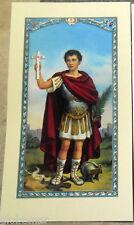 Image pieuse avec prière Saint Expédit 11,5 cm x 6,5 cm