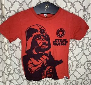 Star Wars Darth Vader red t-shirt boys size 6-7 Preowned