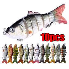 1/10Pcs Lifelike Eyes Segment Bionic Bait Treble Hooks Crucian Carp Fishing Lure