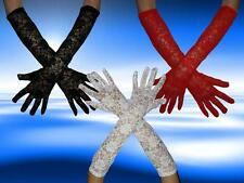 Elegante Spitzen Handschuhe, Langhandschuhe, Abendhandschuhe, 3 Farben, NEUWARE