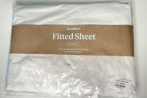 Brooklinen Classic White Twin XL Flat Bed Sheet Brand New