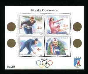 Norway 984 Winter Olympics Souvenir Sheet 1994