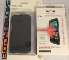NEW Original Body Glove Satin Case For HTC One M8 with Tech21 Screen Protector !