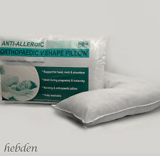 V Shaped Orthapaedic Support Pillow for Pregnancy, Nursing, Neck, Back, Reading