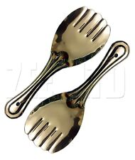 2 x Kitchen Rice Serving Spoon Design Cutlery Platter Stainless Steel Punja New.