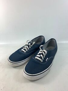 Vans Canvas Blue Skate Shoes Lace Up Mens Size 11 #721356