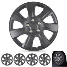 "OEM Replacement 16"" Matte Black Hubcaps Premium ABS Rim Wheel Covers 4-Pack"