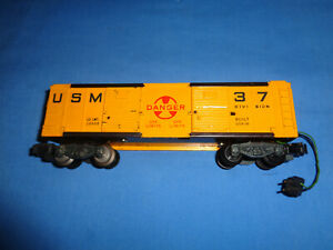American Flyer #25056 USM Boxcar for the Defender Set. Working. Excellent Minus