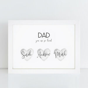 Personalised Print Fathers Day Gifts Best Daddy Special Dad Grandad Birthday