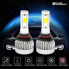 2 Pack 9006 HB4 LED Headlight Bulb Kit Hi-Low Beam 6000K 60W 7600LM White Light