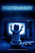 Gran Póster Enmarcado Película Retro – Poltergeist 1982 (réplica película de cine de terror)