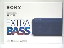 SONY SRS-XB3 EXTRA BASS WATER-RESISTANT PORTABLE BLUETOOTH SPEAKER, BLUE