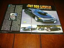 1996 Lincoln Mark Viii Pro Street Hot Rod *Original 1997 Article*