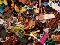 LEGO BULK LOT OF 100 NEW MINIFIGURE ACCESSORIES TOOLS UTENSILS FIGURE PIECES 🥛