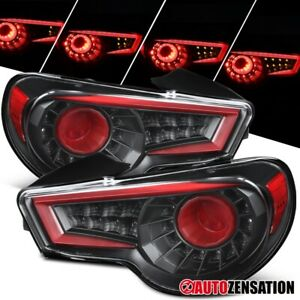For 2013-2016 Scion FR-S Subaru BRZ Black Tail Lights LED Sequential Signal