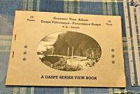 Souvenir View Album Photo Book- Gaspe Pittoresque Picturesque P.Q. Quebec Canada