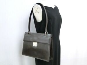 GUCCI One Hand Shoulder Bag 001 1364 1732 Leather Dark Brown Italy 31170553100 K