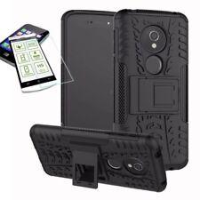 pour Motorola Moto E5 jouer HYBRID ETUI extérieur 2 pièces COUVERCLE NOIR +