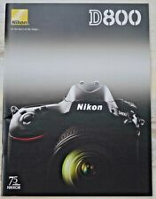Mint Original Nikon brochure for Nikon D800/D800E 36.3 MP DSLR camera + lenses