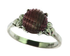 Water Mellon Tourmaline Natural Genuine Gemstone Sterling Silver Ring RSS578