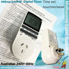 10A 240V Hydroponics Digital Timer Switch AU Plug 24 hrs Electronic Power Timer