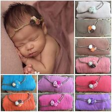 Baby Newborn Wrap Swaddle and Matching Headband Girl Boy Photography Photo Prop