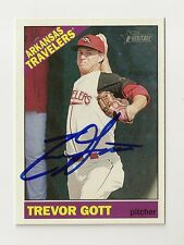 2015 TOPPS HERITAGE MINORS TREVOR GOTT AUTOGRAPH CARD #69 SIGNED IN PERSON
