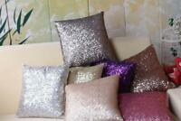 Glitter Solid Sequins Throw Pillow Case Lounge Cafe Home Decor Cushion Cover 6A
