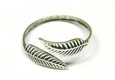 Handmade Solid 925 Sterling Silver Feather Leaf Adjustable Toe Ring or Midi ring