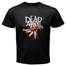 New Dead by April Hardcore Band Poster Logo Men's Black T-Shirt Size S to 3XL