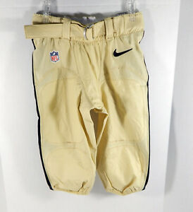2017 New Orleans Saints Game Issued Gold Pants 32 NOS0251