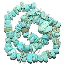NG2310 Light Teal Green Turquoise Medium 8mm - 14mm Magnesite Gemstone Chip Bead