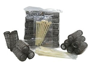 Traditional Brush Rollers Hair Curlers With Pins 12mm - Pack Of 12