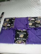 NFL BALTIMORE RAVENS RAGGEDY SECURITY BLANKET WITH PACIFIER