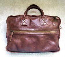 Will Leather Goods Hank Satchel $450 Retail Brown Briefcase Messenger Bag