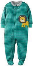 Carter's Boy's 5T Striped Lion Footed Polyester Pajama Sleeper