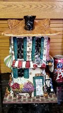 2000 Blue Sky Huge Cafe Chapeaux Fleuriste Goldminc Tea Light Lite Candle &Base