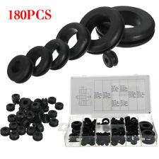 180pc Assorted Rubber Grommet Set Open & Closed Blind Blanking Grommets Wniu