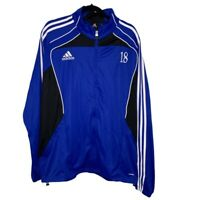 Adidas Mens NASA North Atlanta Soccer Assoc Track Jacket Blue Full Zip Up XL New