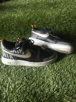 NIKE AIR FORCE 1 '07 LV8 UTILITY BLACK and GREY Trainers size UK Size 7