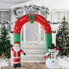 8ft Inflatable Santa Snowman Christmas Archway Premium Decoration with Fan