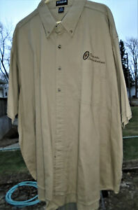 "New Size 4XL Tan Ultra Club Short Sleeve Shirt ""Classic Studebaker"" Embroidery"