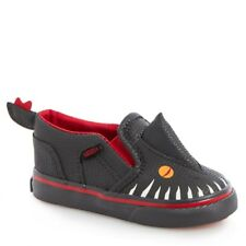 NEW Vans Toddler Asher V Boy Dinosaur Slip-On Sneakers, Size 9