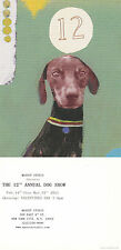 DOG UNUSED ADVERTISING 12th ANNUAL NEW YORK DOG SHOW COLOUR POSTCARD